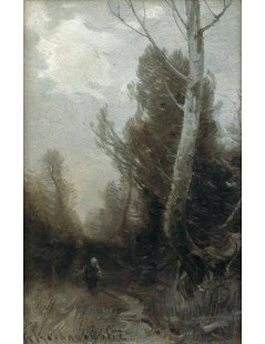 Tytuł: Szary pejzaż, Autor: Roman Kochanowski