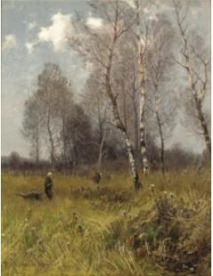 Tytuł: Zbieranie chrustu, Autor: Roman Kochanowski