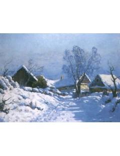 Tytuł: Chaty w śniegu, Autor: Wiktor Korecki