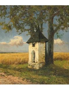 Tytuł: Kapliczka wśród pól, Autor: Wiktor Korecki