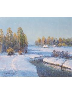 Tytuł: Potok wśród śniegów, Autor: Wiktor Korecki