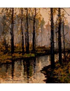 Tytuł: W jesiennym lesie, Autor: Wiktor Korecki