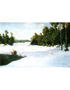 Tytuł: W zimowym słońcu, Autor: Wiktor Korecki