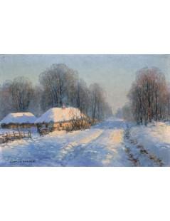 Tytuł: Marsz przez śniegi, Autor: Jerzy Kossak