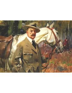 Tytuł: Autoportret z koniem, Autor: Wojciech Kossak