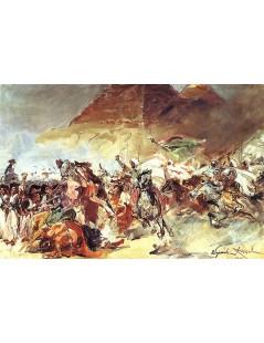 Tytuł: Bitwa pod piramidami, Autor: Wojciech Kossak