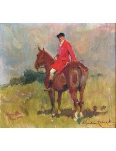 Tytuł: Czerwony jeździec, Autor: Wojciech Kossak