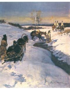 Tytuł: Epizod z 1812 r., Autor: Wojciech Kossak