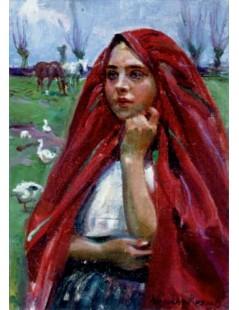 Tytuł: Gęsiarka, Autor: Wojciech Kossak