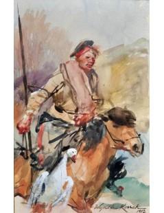 Tytuł: Kozak na koniu, Autor: Wojciech Kossak