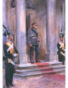 Tytuł: Marszałek Józef Piłsudski przed Belwederem, Autor: Wojciech Kossak
