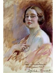 Tytuł: Portret pani Moszczeńskiej, Autor: Wojciech Kossak