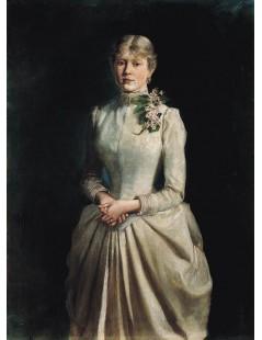 Tytuł: Portret żony artysty, Autor: Wojciech Kossak