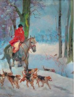 Tytuł: Powrót z polowania, Autor: Wojciech Kossak