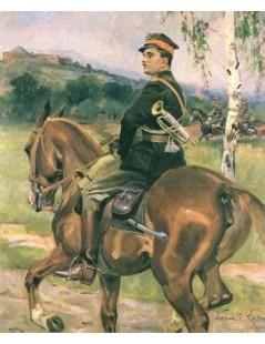 Tytuł: Trębacz 8. Pułku Ułanów z Krakowa, Autor: Wojciech Kossak