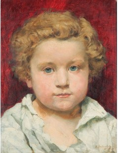Tytuł: Portret jasnowłosego dziecka, Autor: Kazimierz Pochwalski