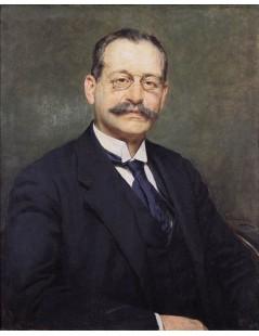 Tytuł: Portret mężczyzny w okularach, Autor: Kazimierz Pochwalski