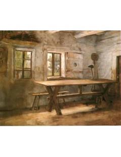 Tytuł: Wnętrze izby, Autor: Kazimierz Pochwalski