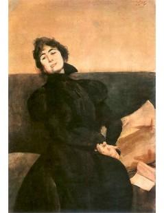 Tytuł: Portret Gabrieli Zapolskiej, Autor: Julian Fałat