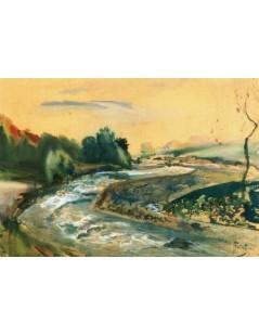 Tytuł: Zakole rzeki, Autor: Julian Fałat