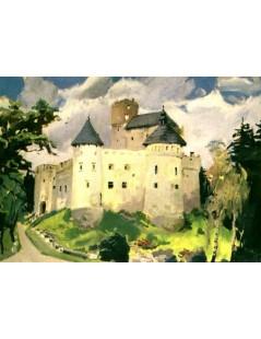 Tytuł: Zamek w Niedzicy, Autor: Julian Fałat