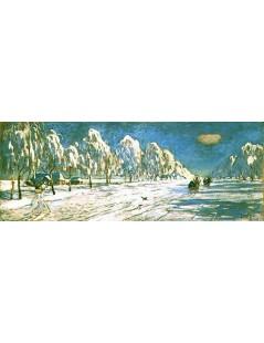 Tytuł: Zima w Nieświeżu, Autor: Julian Fałat
