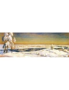 Tytuł: Zimowe brzozy nad rzeką, Autor: Julian Fałat