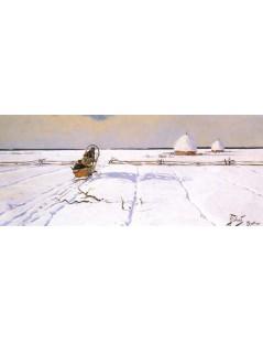 Tytuł: Zimą w Beskidach, Autor: Julian Fałat