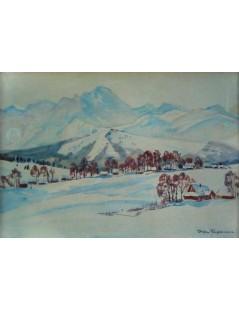 Tytuł: Pejzaż górski, Autor: Stefan Filipkiewicz