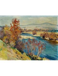 Tytuł: Pejzaż jesienny, Autor: Stefan Filipkiewicz