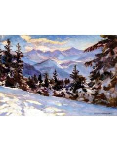 Tytuł: Tatry w zimie, Autor: Stefan Filipkiewicz
