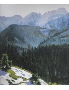 Tytuł: Widok Tatr, Autor: Stefan Filipkiewicz