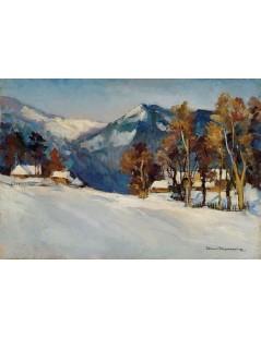 Tytuł: Zakopane w śniegu, Autor: Stefan Filipkiewicz