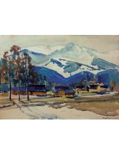 Tytuł: Zima w górach, Autor: Stefan Filipkiewicz