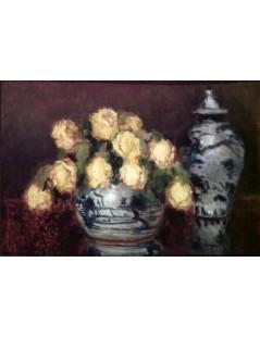 Tytuł: Żółte róże, Autor: Stefan Filipkiewicz