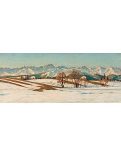 Tytuł: Panorama Tatr, Autor: Mieczysław  Filipkiewicz