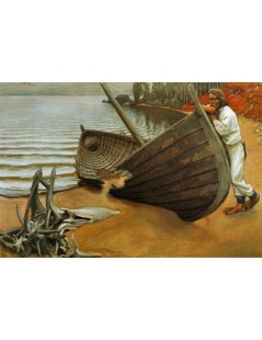 Tytuł: The Boats Lament, Autor: Akseli Gallen-Kallela