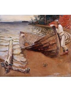 Tytuł: The Lamenting Boat, Autor: Akseli Gallen-Kallela
