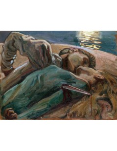 Tytuł: The Lovers, Autor: Akseli Gallen-Kallela