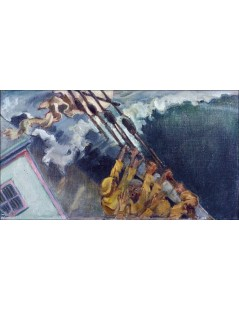 Tytuł: The storm, Autor: Akseli Gallen-Kallela