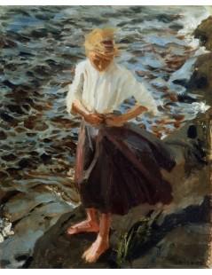 Tytuł: Windswept Girl, Autor: Akseli Gallen-Kallela