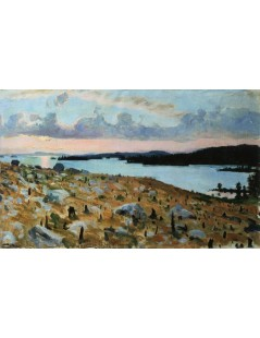Tytuł: Woodland Clearing on the Shores of Lake Kallavesi, Autor: Akseli Gallen-Kallela