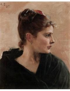 Tytuł: A Portrait Of A Young Lady, Autor: Albert Edelfelt