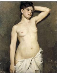 Tytuł: Female model, academic study, Autor: Albert Edelfelt