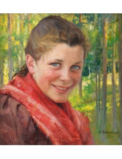 Tytuł: Girl from Porvoo, Autor: Albert Edelfelt
