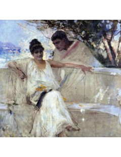 Tytuł: Horace and Lydia (study), Autor: Albert Edelfelt