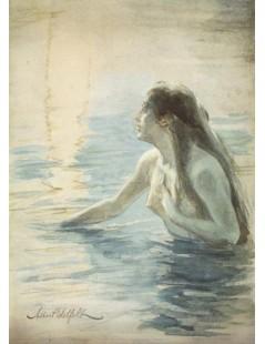 Tytuł: In the water, Autor: Albert Edelfelt