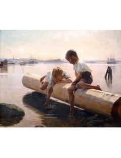 Tytuł: Little Boat, Autor: Albert Edelfelt