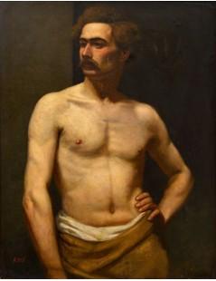 Tytuł: Male Model, Autor: Albert Edelfelt