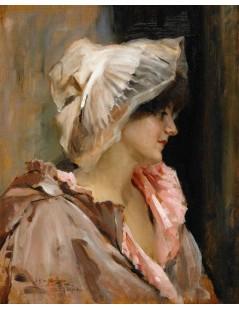 Tytuł: Parisian Lady in a Peignoir, Autor: Albert Edelfelt